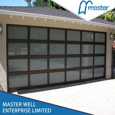 Aluminum frosted glass garage door