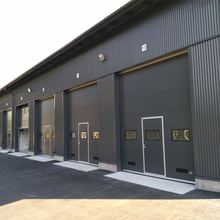 Automatic Galvanized Steel Overhead Sectional Industrial Doors