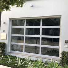 Full View Clear Glass Garage Door