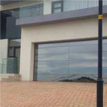 Frameless Mirror Glass Garage Door
