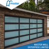 Clear with Passing Door Insulated Glass Alumium Garage Door