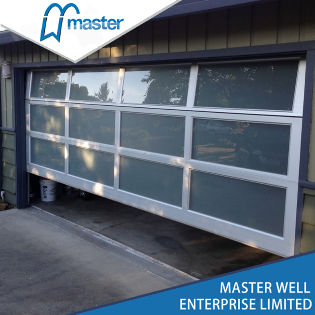 Houses Frameless Full View Insulated Glass Aluminum Garage Door