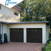 Classic Commercial Low Headroom Single Light Gray Overhead Garage Doors with Windows