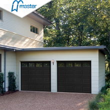 Automatic Rapid Residential Low Headroom Metal Overhead Garage Doors with Glass
