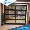 Single Car Frameless Plexiglass Glass Aluminum Garage Door