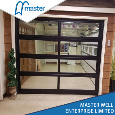 Interior Commercial Plexiglass Glass Aluminum Garage Door