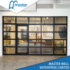 Commercial Model Full View Frosted Glass Aluminum Garage Door
