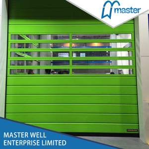 High Reliability Logistics Security Fiberglass Spiral High Speed Hard Fast Roll Up Doors