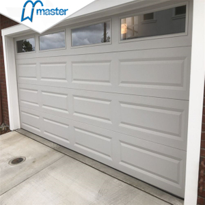 Classic Motor Drive Commercial Low Headroom Overhead Sectional Garage Doors with Windows