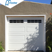 Universal Remote Residential Quiet Aluminum Sectional Garage Doors with Windows