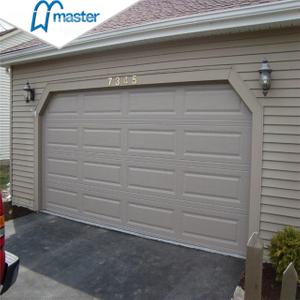 Modern Residential Insluted Single Steel Overhead Garage Doors with Windows