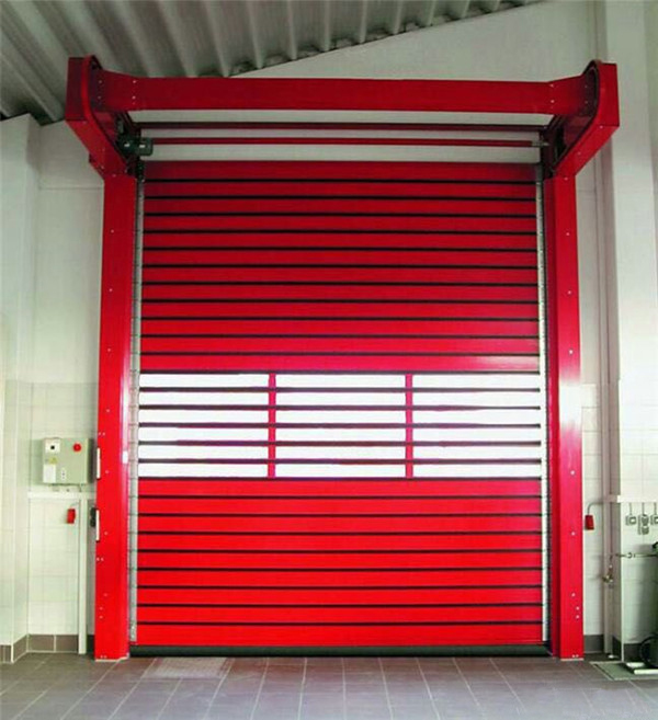 What is the function of high speed spiral door?