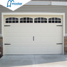 8x7 Precision Insulated Flush Panel Sanwich Overhead Garage Doors with Pedestrian Door