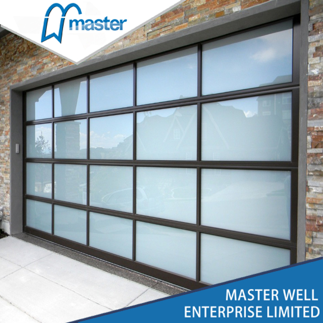 glass panel glass garae door