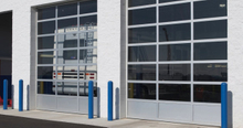 16 X 7 Full View Anodized Aluminum Glass Garage Door