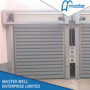 Automatic Industrial Anti-Wind Aluminum Alloy Spiral High Speed Hard Fast Shutter Doors