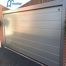 Modern Residential Perforated Golden Oak Steel Overhead Garage Doors with Windows