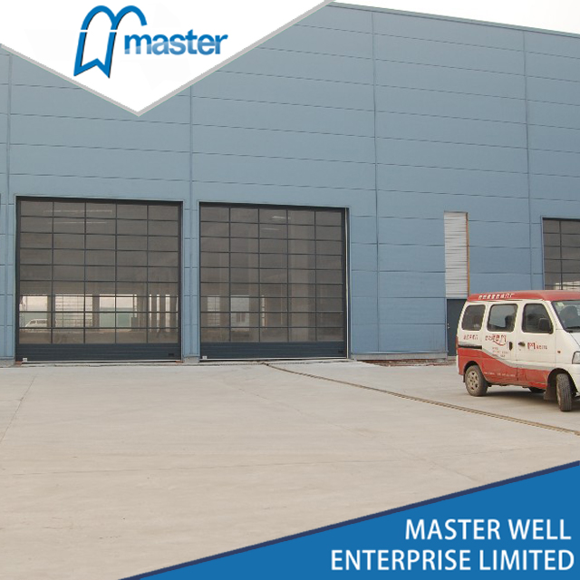 10x10 Modern Tempered Glass Alumium Garage Door From China Manufacturer Master Well Doors