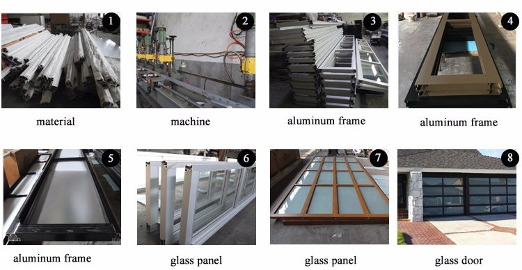 9x7 glass alumium garage door
