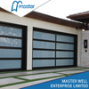 Residential Model Full View Tempered Glass Aluminum Garage Door