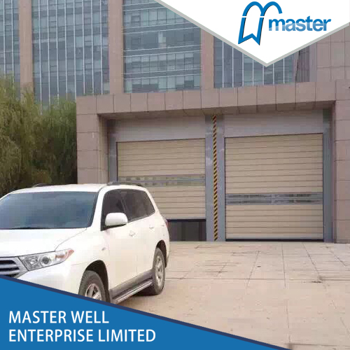 Exterior Factory Security Aluminum Alloy Spiral High Speed Hard Fast Rolling Doors