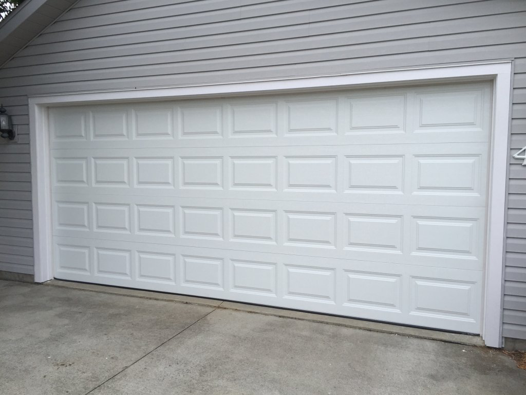 What are the components of a garage door?