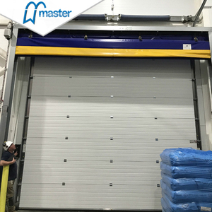 Fast Action PU Sandwich Panel Secure Insulated Industrial Folding Doors with Glass