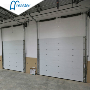 Electrical PU Sandwich Panel Secure Insulated Industrial Sliding Doors
