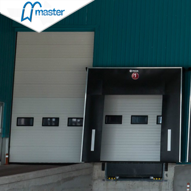 Electrical large Aluminium steel Vertical Lift Industrial Doors with access