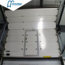 Automatic Timber Secure Insulated Industrial Folding Doors with Windows