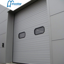 Automatic Side Sliding Steel Overhead Sectional Industrial Doors with Windows