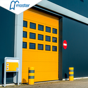 Automatic Aluminium Steel Overhead Sectional Industrial Doors with Windows