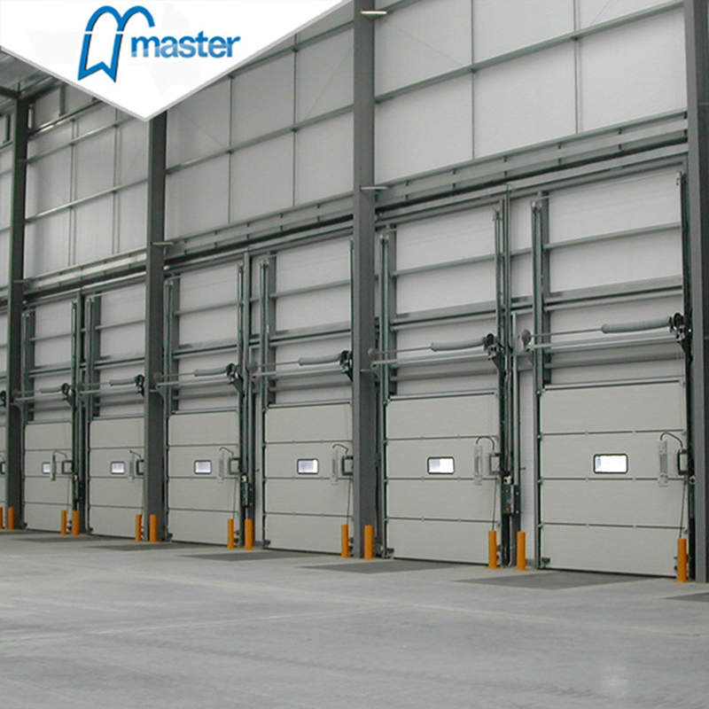 Automatic Steel Insulated Secure Industrial Fold Up Doors with Windows