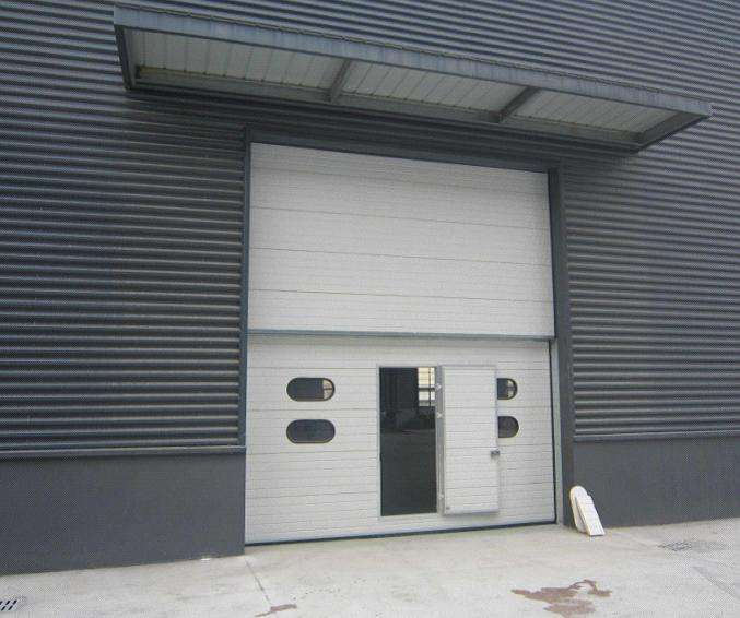 What is a high lift sectional industrial door?