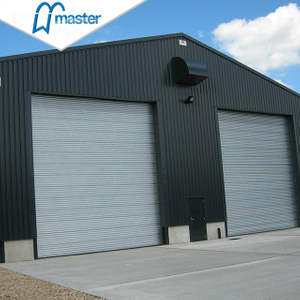 Remote Control Thermal Insulated Steel Overhead Sectional Industrial Doors with Windows
