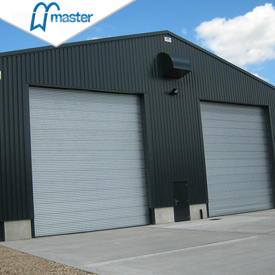 High Speed Thermal Insulated Steel Overhead Sectional Industrial Doors with Windows