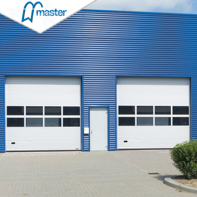 Automatic Aluminum Insulated Steel Vertical Lift Industrial Internal Doors with Entrance
