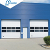 Automatic Electrical Steel Overhead Sectional Industrial Doors with Windows