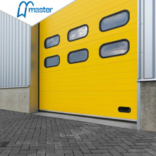 Electrical Wind Proof Steel Timber Industrial Sliding Doors with Entrance