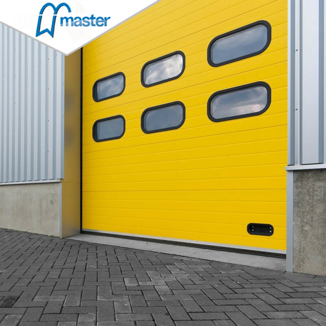 Fast Action Unit PU Sandwich Panel Secure Insulated Industrial Sliding Doors