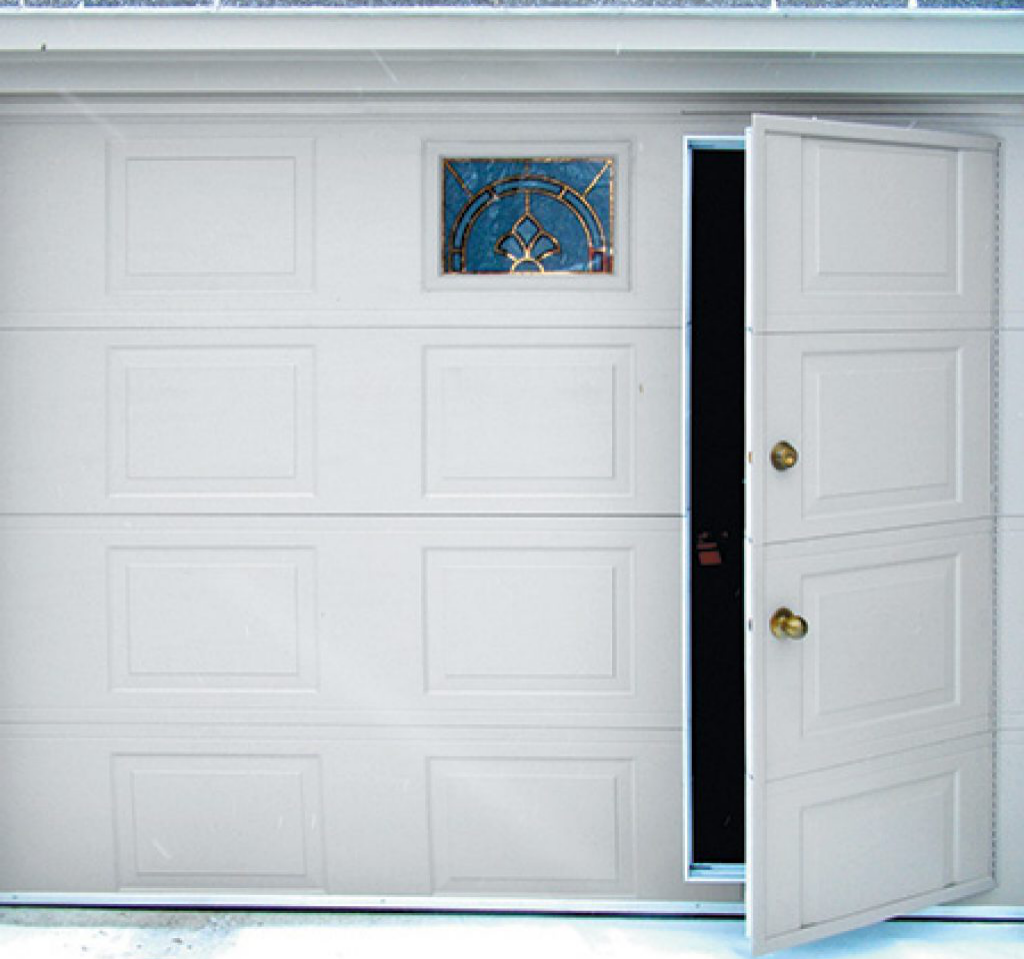 What's the advantages and disadvantages of a sectional Garage Door with a Pedestrian Door?
