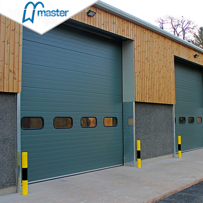 Quick Fix Thermal Insulated Steel Vertical Lift Industrial Internal Doors with Entrance