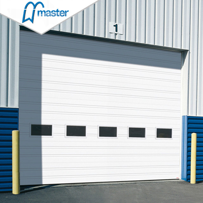 Electrical Aluminium Steel Vertical Lift Industrial Doors with Entry
