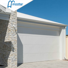 16x7 Motor Drive Residential Insulated Perforated Double Skinned Overhead Garage Doors with Pedestrian Door